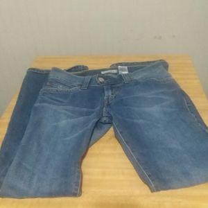 Ladies levi blue jeans 7M JR slouch flair 504